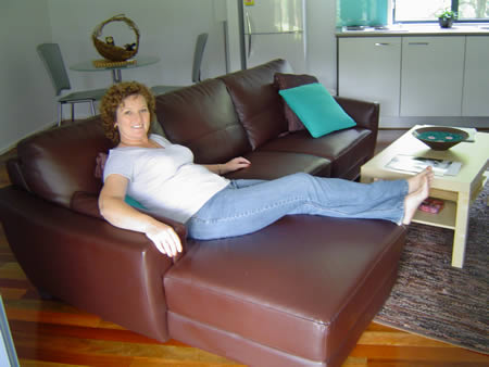 Maureen on the couch