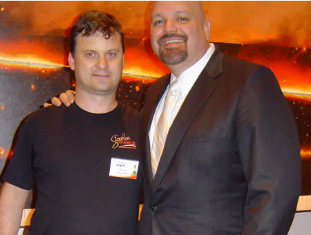 A photo of Daivid Lakhani and Bryan