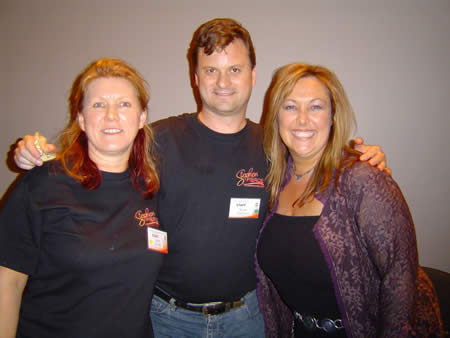 A photo of me inbetween Jennie Armato and janet Rundle