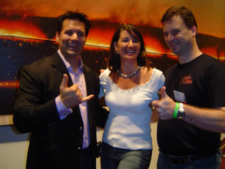A photo of JP and Deb with me.
