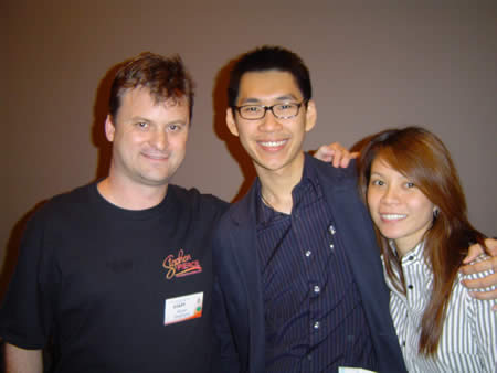 A photo of me with Patric Chan and his wife Emily