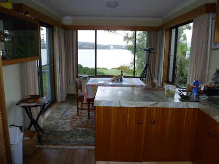This photo shows Frank's kitchen and dining room