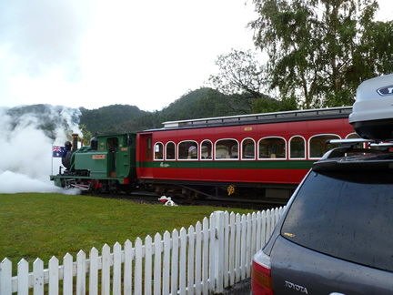 Abt Steam Train Departing Queenstown