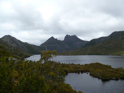 Cradle Mountain and Dove lake View From Large Rock