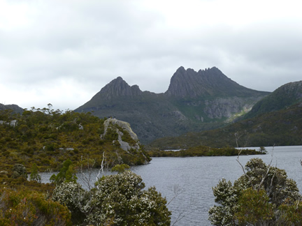 Cradle Mountain Large Rock Foreground