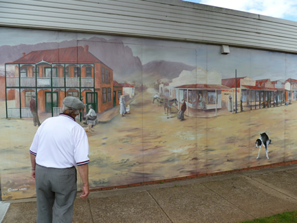 Old Sheffield Mural With Frank